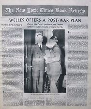 WELLES - TIME FOR DECISION - DOS PASSOS NATION STATE July 23 1944 NY Times Book