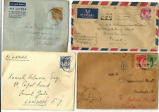 Singapore 5 covers + 1 Aerogram 1937-53, two sent to England one FDC registered