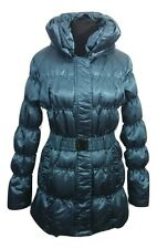 PHILOSOPHY BLUES ORIGINAL Coat Size 8 Teal Blue Down Feather Outdoors Ski Active