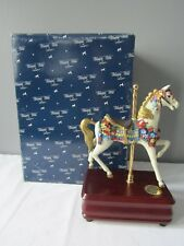 1993 San Francisco Music Box Co. American Beauty Carousel World Collection Horse