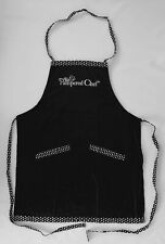 The Pampered Chef Apron Black w/ White Polka Dots New