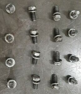 GM 3T40E 3 Speed Automatic Transmission: (16) Bottom Oil Pan Mounting Bolts Set