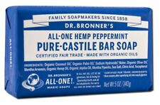 Dr. Bronner's All-One-Hemp Peppermint Pure Castle Bar Soap w/Organic Oils 5 oz