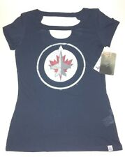 Winnipeg Jets Touch by Alyssa Milano Womens Shirt Blue NHL Authentic Size L