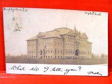 Postcard IL Murphysboro 1906 High School RPPC Real Photo