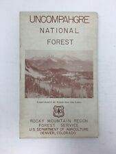 1951 Uncompahgre National Forest Serivice of Colorado Map