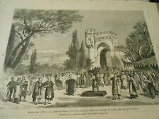 Gravure 1881 - Théatre Opéra Le Tribut de Zamora musique de Gounod