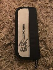 HAND SIGNED ADRIAN LEWIS UNICORN DARTS CASE-2X WORLD PDC CHAMPION