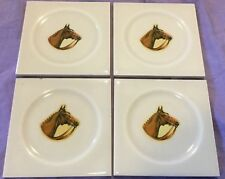 Horse Head Set Of Four Square Tiles