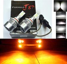 LED Kit C6 72W 9006 HB4 Orange Amber Two Bulbs Fog Light Replace Plug Play Lamp