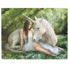Anne Stokes Pure Heart Wall Art Canvas Gothic Unicorn Horse Fantasy Plaque
