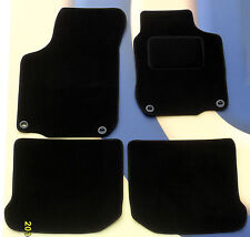 AUDI A6 2004 - 2009 & S LINE (NOT QUATTRO)  BLACK QUALITY CAR MATS WITH CLIPS B
