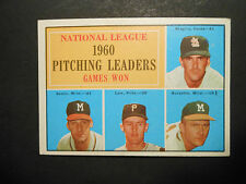1961 TOPPS BASEBALL #47 NATIONAL LEAGUE 1960 PITCHING LEADERS GAMES WON