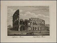 1818c.Inc/Rame.ROMA:ANFITEATRO FLAVIO DETTO COLOSSEO. par NIBBY - Parboni-Ruga.