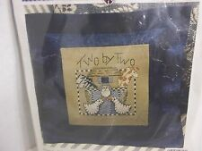 Folk Heart! Cross-Stitch Pillow! Two by Two! New! Cross Stitch & Felt Pillow
