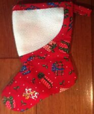Christmas Holiday Red Gift Stocking Fabric Ornament, Ornaments, Decorations