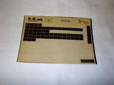 KAWASAKI KE100 KE 100 B6 GEN PART CATALOGUE MICROFICHE