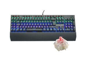 KM-Gaming K-GK2 mechanische Alu RGB USB Tastatur CherryMX Silent Red Switches