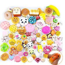 Lot 20Pcs/Set Random Kawaii Squishies Soft Panda Bread Cake Buns Phone Straps