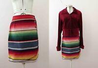 Vintage 80s SouthWestern Cotton Mini Wrap Skirt Sm Buy 3+ items for Free Postage