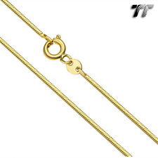 TT 1.0mm 18K Gold Filled Square Snake Chain Necklace 60cm (CF115RJ)