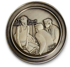 Man on BED  Antiqued Bronze  AA-12 Step Recovery Program Coin /Token/Chip