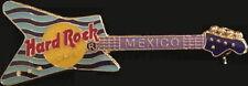 Hard Rock Cafe MEXICO Lt & Dk Blue Waves Stripes Guitar PIN - HRC Catalog #5664