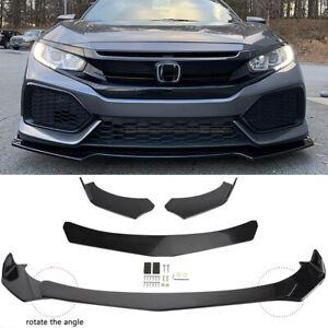 For 2017 2018 2019 2020 Honda Civic Hatchback Front Bumper Lip Splitter Spoiler