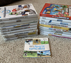 Wii Games - Pick & Choose Selection Lot (Kids & Family, Sports, Racing & More)