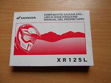 Uso e manutenzione owner'S MANUAL HONDA XR 125 l4 (jd19) 2004-2008