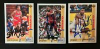 3 Card Los Angeles Clippers Autographed Card Lot Loy Vaught Garland Norman