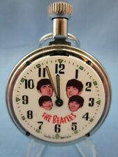 1960's VINTAGE  ** BEATLES STRAIGHT From ENGLAND ** ADVERTISING POCKET WATCH