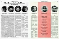 1935 College football All-Americans Grantland Rice vintage photo Print Ad adL70