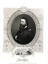 Union Army Civil War General JOHN POPE BATTLE BULL RUN, 1864 Art Print Engraving