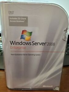 Windows Server 2008 Enterprise with 25 CALs retail packaging, still sealed