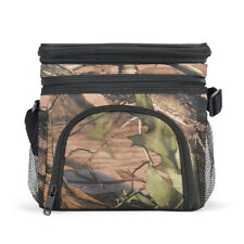 EAGLEMATE Expandable Double Compartment Lunch Cooler Bag For Adults CAMO design