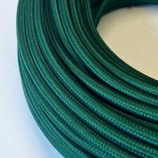 Textilkabel, Stoff-, Textilleitung, rund, dunkelgrün 3x0,75mm² H03VV-F