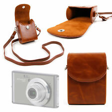 Faux Leather Case in 'Vintage' Brown for Polaroid IS626 Compact Camera