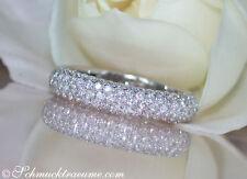 Reinheit SI Echte Diamanten-Ringe aus Weißgold mit Brilliantschliff für Damen