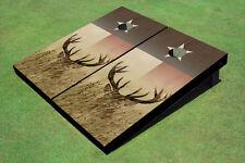 Custom Texas Flag With Deer Custom Cornhole Board