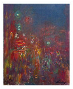 Monet - Leicester Square - fine art giclee print poster wall art various sizes