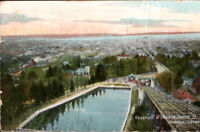 RESERVOIR AT HEAD OF ST JAMES STREET HAMILTON CANADA  Showing Incline Railway