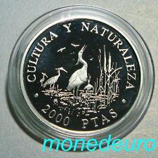 (73) ESPAÑA 1994 2000 PESETAS PLATA PROOF GARZAS IMPERIALES CULTURA Y NATURALEZA