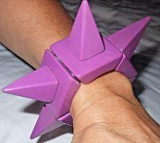 Sobral Lagerfeld Cones Retired Huge Runway Lilac Purple Punk Spike Bracelet
