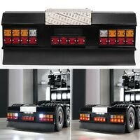 LED Square Signal Light Lamp Set & Rear Bumper for 1/14 Tamiya Man Scania RC Car