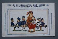 R&L Postcard: Comic, Bamforth 2357 Sailor's Wife, Big Family Many Children