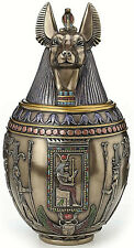 Anubis Egyptian God Canopic Jar Dog Pet Memorial Urn Home Office Decor