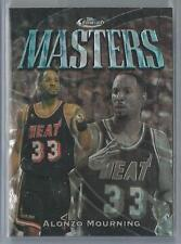 1997-98 TOPPS FINEST MASTERS UNCOMMON REFRACTOR ALONZO MOURNING 55/263!!