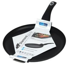 Diamond Non Stick Crepe Pancake Pan Black - 28cm