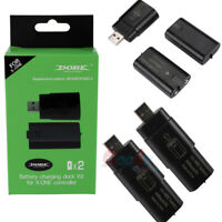 2Pcs 600mAh Rechargeable Battery Pack+ USB Charger Dock For XBOX ONE Controller